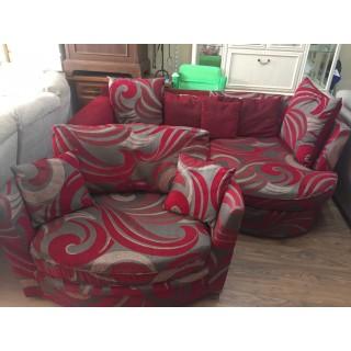 Sofa chaise con sillon grande de DFS
